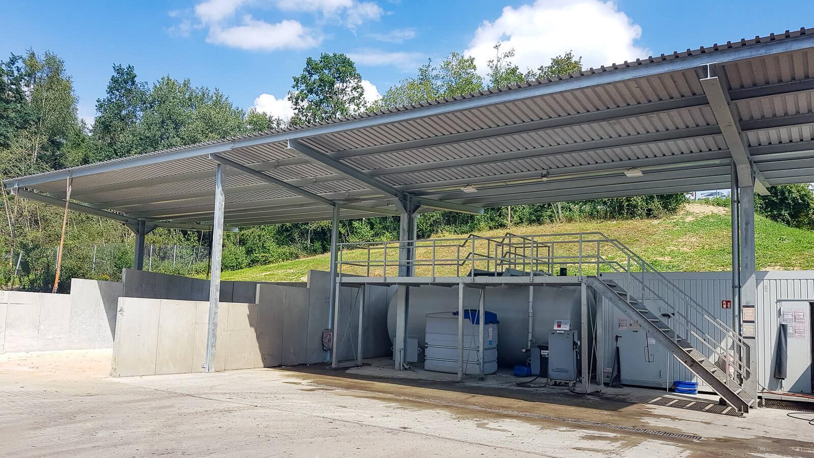 Neuer Tank- und Waschplatz in Passau